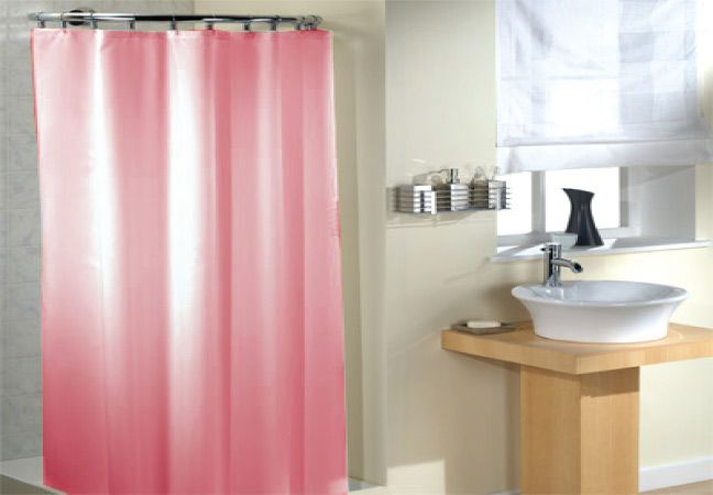 Five of the prettiest shower curtains linens limited blog for Plain pink shower curtain