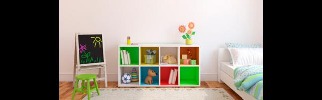 coloured childrens bedroom