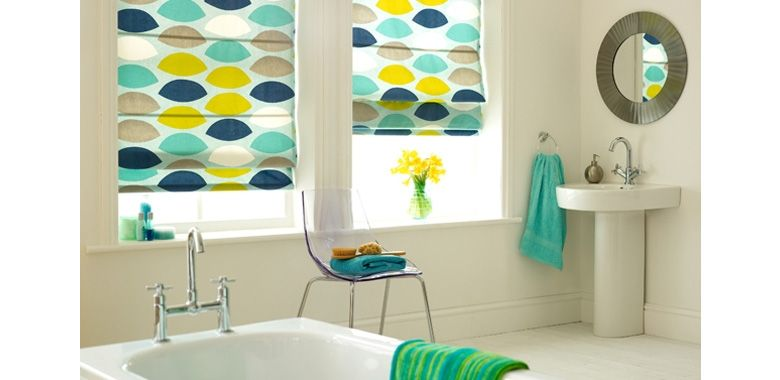 Patterned blinds for bathrooms