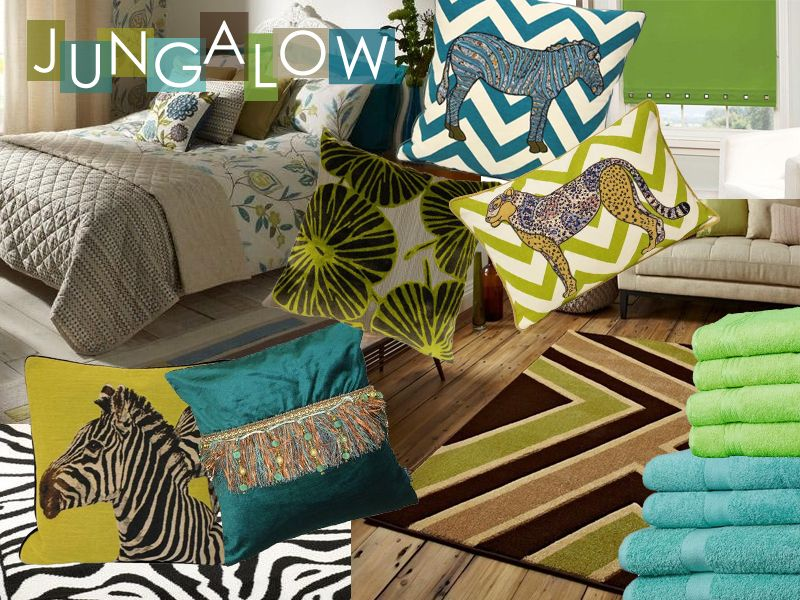 Tropical prints and jungle inspired decor for interior ...
