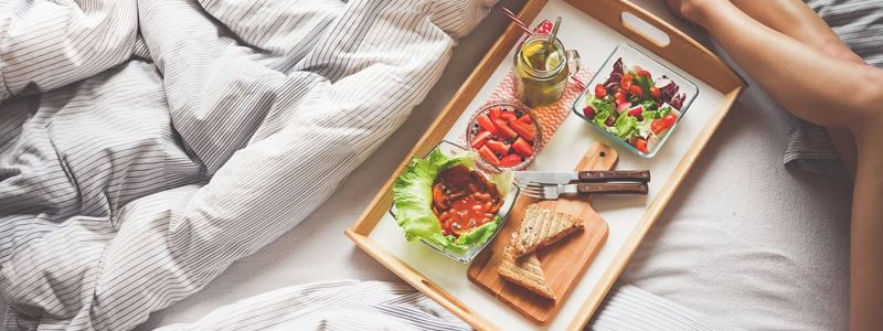 Watch what you eat before bedtime - go for light meals and leave plenty of time before dinner and bed