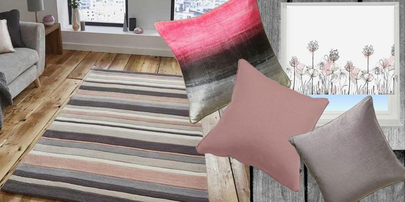 Get an elegant urban style in our home with our products in dark and light greys and like chalky pinks.
