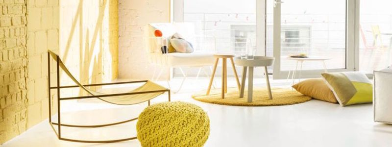 Try this yellow and pastel pink colour scheme from our selection of on trend colours for your home in 2017.