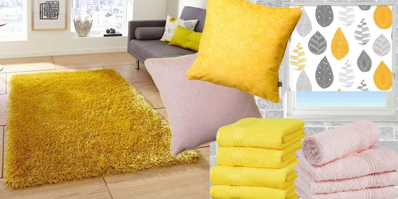 Shop this look to achieve the ultimate on trend yellow and rose pink style in your home.