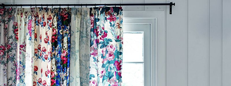 Be bold with curtains in bright prints and let the light through with voile curtains in an elegant sheer fabric.