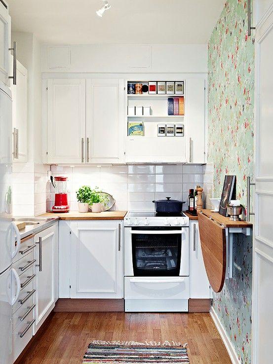 Bright sunny small kitchen