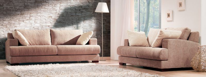 comfortable sofas in large room