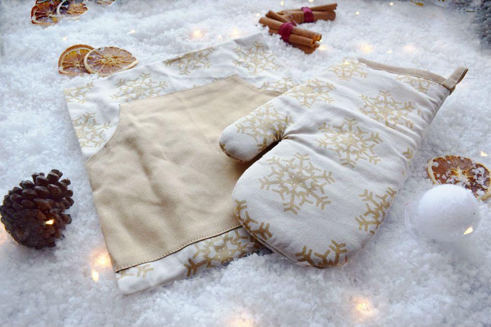 glove apron set