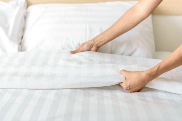 Making bed