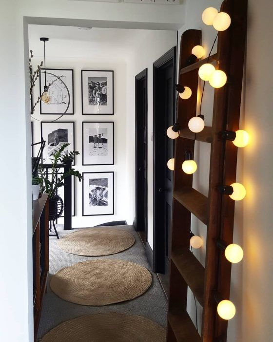 Fairy lights and ladders for the landing