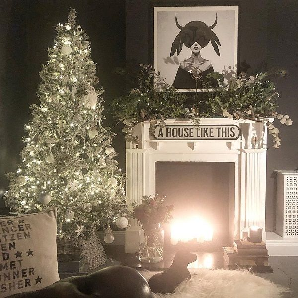 Black and white is a timeless choice for interiors, and you can carry this over into your Christmas decor.