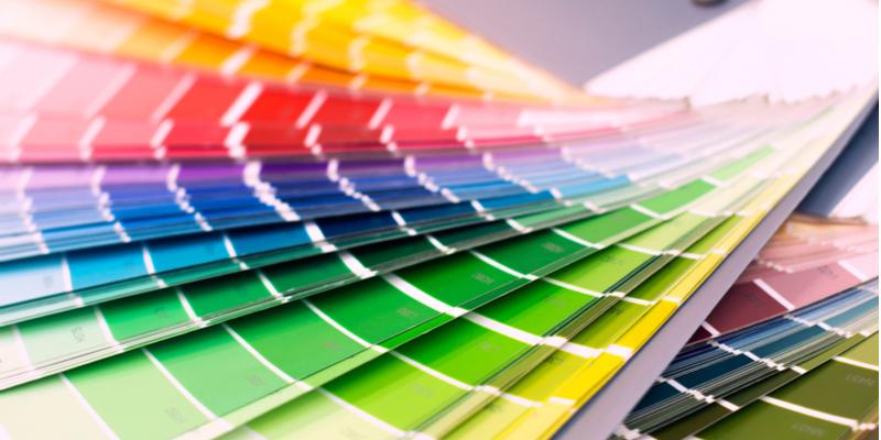 Image showing paint colour charts