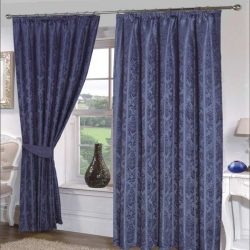 Emma Barclay Seattle Paisley Floral Print Pencil Pleat Lined Curtains