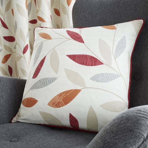 Fusion Beechwood Leaf Trail 100% Cotton Cushion Cover