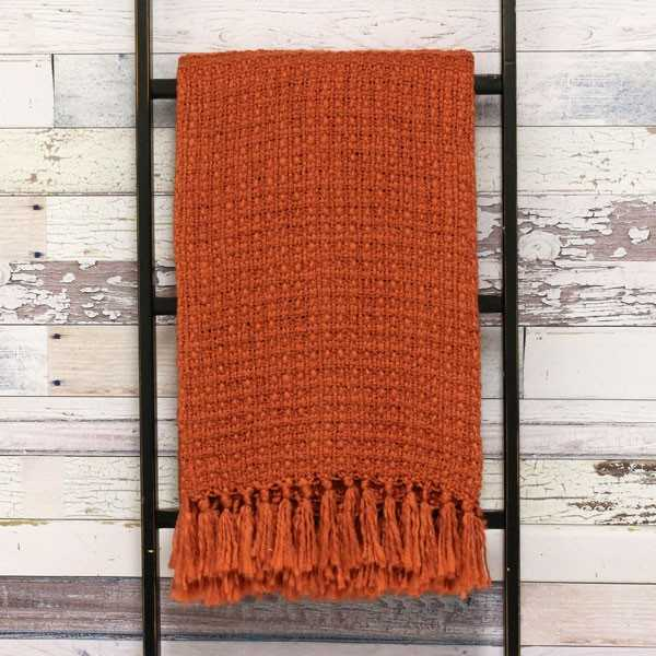 Riva Paoletti Boden Textured Weave Fringed Throw