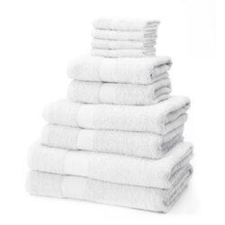 Linens Limited 100% Turkish Cotton 10 Piece Towel Bale, White