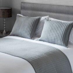 Belledorm Crompton Quilted Jersey Bed Runner, Grey