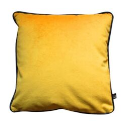 Scatter Box Velour Duo Filled Cushion, Yellow/Charcoal