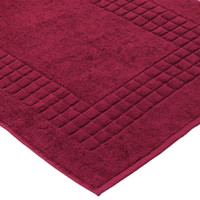 Linens Limited Supreme 100 Egyptian Cotton Bath Mat Wine
