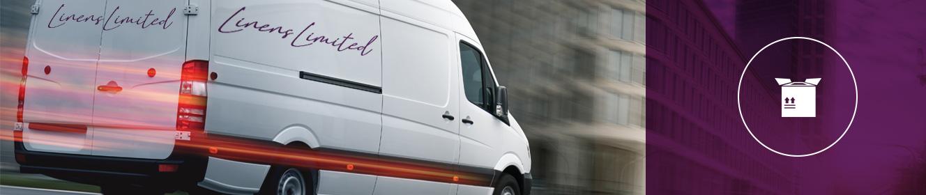 Returns Banner - Linens Limited Branded Van