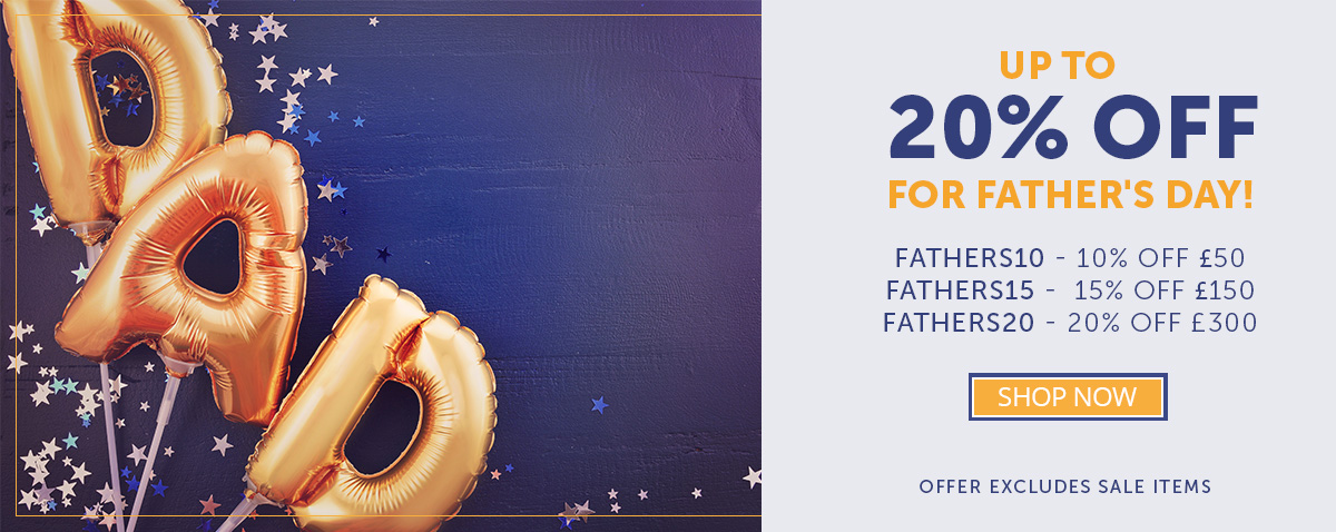 Celebrate Father's Day with up to 20% Off
